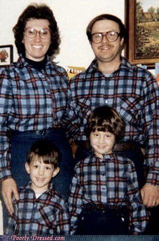 eyewear,family portrait,matchy matchy,plaid,vintage