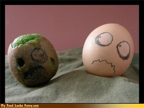 drawings egg eggs faces fruits-veggies kiwi pen sick - 3667627776