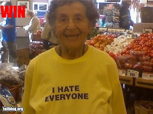 failboat,granny,g rated,hate,sweatshirt