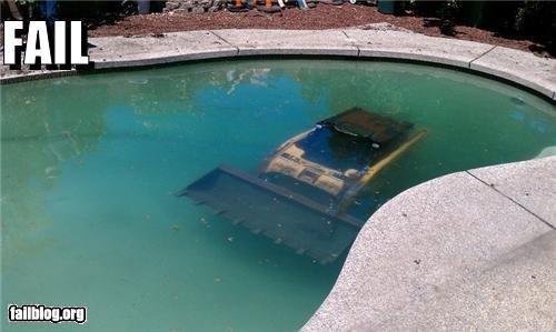 bobcat driver failboat g rated pool summer fails sunk - 3667790336