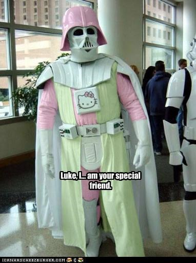 costume darth vader fans Hello Kitty Vader pink sci fi star wars - 3668248064