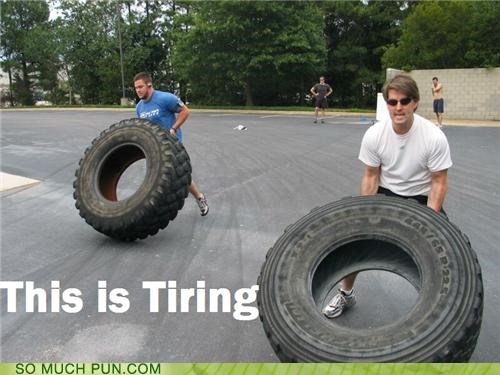 exercise lifting puns the gym tires working out