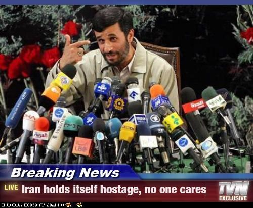 finger gun,hostages,iran,Mahmoud Ahmadinejad,Media