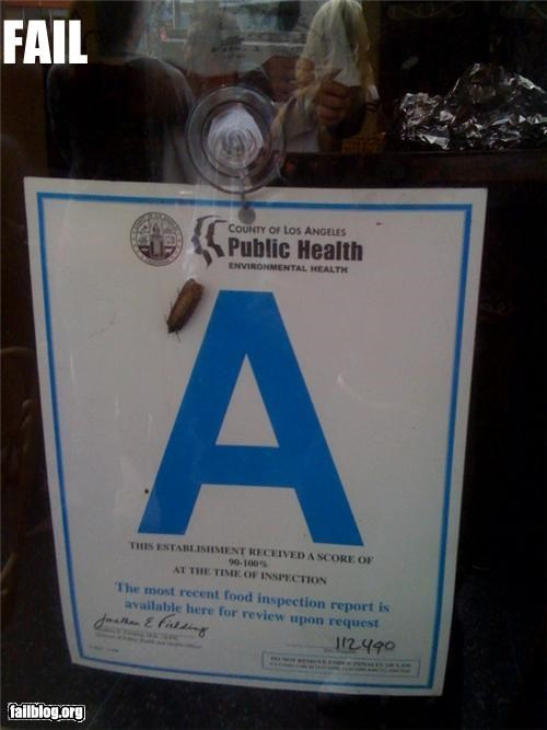 Los Angeles Health Department Fail Breakfast please!