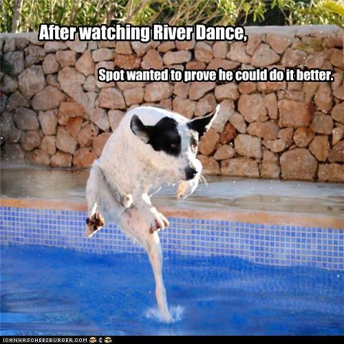 After watching River Dance, Spot wanted to prove he could do it better.
