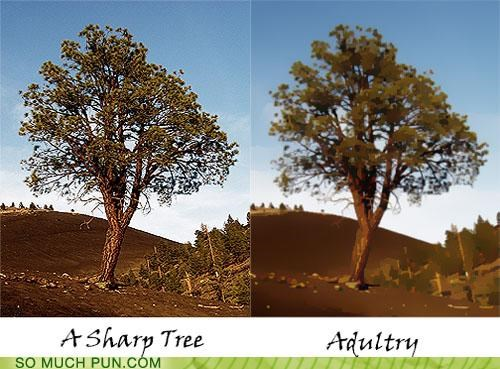adultery human nature photoshop puns trees - 3669798400