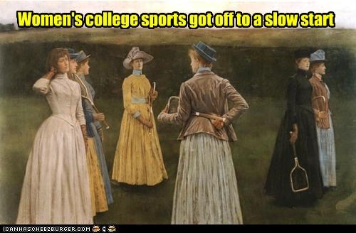 funny ladies painting sports women - 3671026944