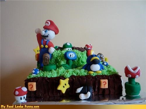 cake,mario,mario bros,mushroom kingdom,Super Mario bros,Sweet Treats,video games
