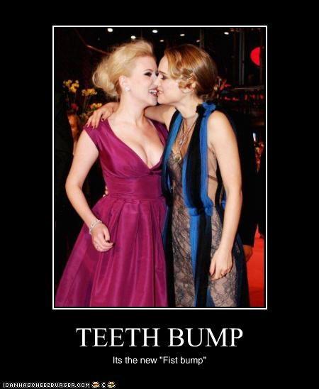 "TEETH BUMP Its the new ""Fist bump"""