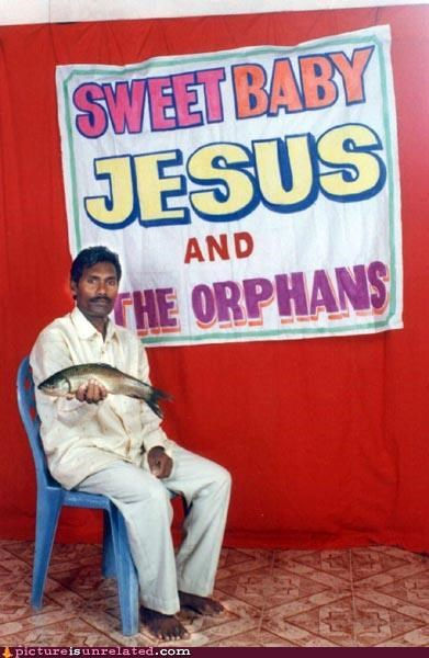 dude fish jesus poster seats wtf - 3672971776