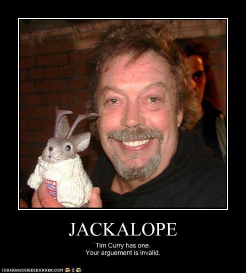 actor,awesome,creatures,Jackalope,tim curry