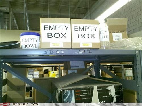 art bored boredom boxes cardboard cheeky cubicle boredom decoration depressing dickheads dorky dumb hardware labels nothing paper signs passive aggressive pointless Sad sass screw you shelves signage stupid supplies useless warehouse wasteful wiseass worthless