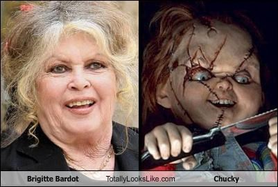 actress Brigitte Bardot Chucky dolls french horror old
