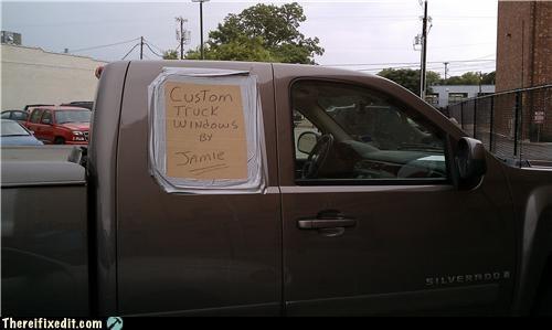 advertising cardboard missing window truck - 3675175680