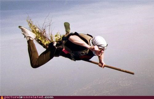 amazing broom burn her clouds skydiving witch wtf - 3676388608
