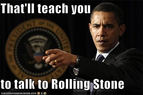 barack obama,fired,generals,magazine,president,rolling stone