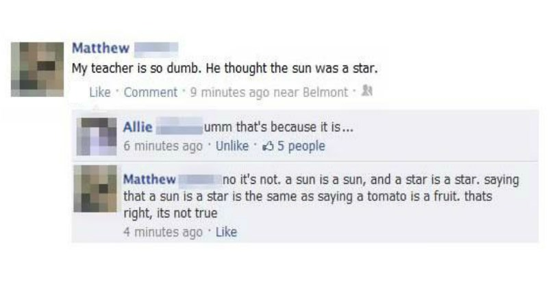Insanely Stupid Facebook FAILs From The Idiots of the Internet
