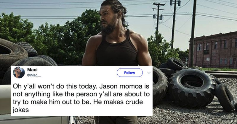 Video of Jason Momoa joking about rape resurfaces amidst the Weinstein sexual assaults controversy.