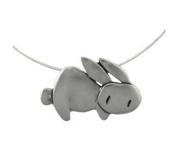 accessory bunny cute cute-kawaii-stuff Jewelry necklace pendant silver - 3678304512