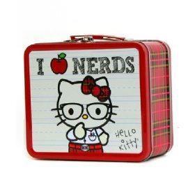 bag glasses hello kitty lunch box nerds plaid - 3678365184