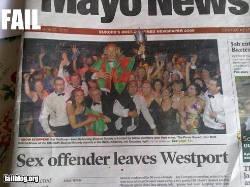 failboat,headline,page layout,Probably bad News