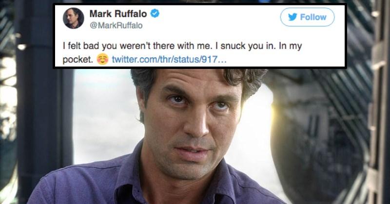 Mark Ruffalo Live Streamed Thor: Ragnarok During Premiere