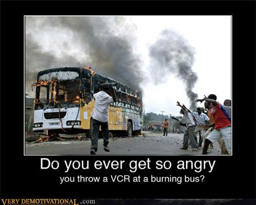 anger burning bus fire Pure Awesome riots Terrifying vcr - 3679783680