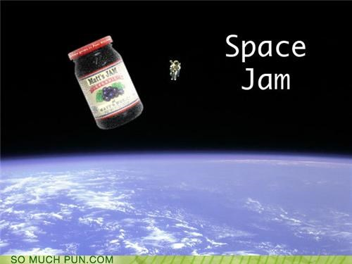 amazing astronauts basketball jam Movie puns space jam