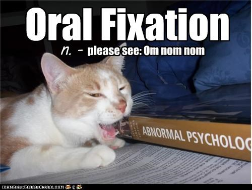 Oral Fixation n. - please see: Om nom nom