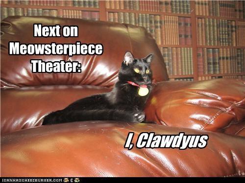 caption captioned cat host i claudius masterpiece theater narrator next pun puns - 3682611200