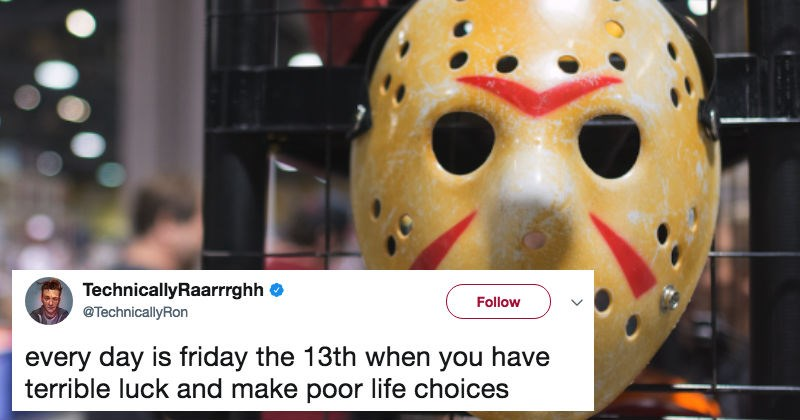 Collection of scary tweets in honor of Friday the 13th.