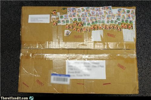 box,package,stamps
