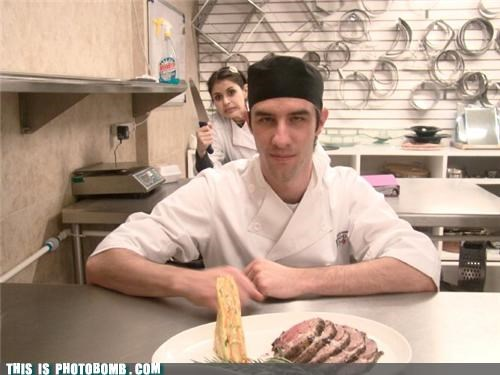Impending Doom kitchen knife photobomb woah - 3683140352