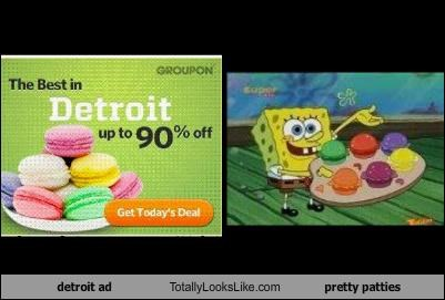 ads advertising detroit food pretty patties SpongeBob SquarePants - 3683878912