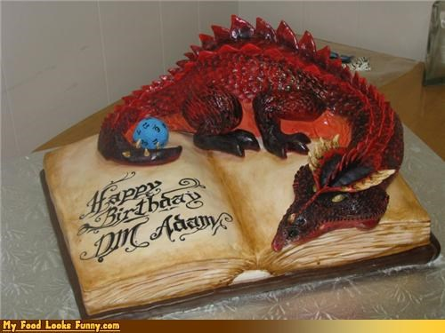 birthday cake book cake dragon dungeons and dragons Sweet Treats