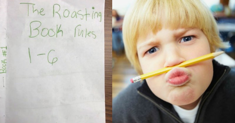 Kids create a roasting book and people are loving it.