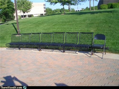 bench chair Hall of Fame park - 3686242816