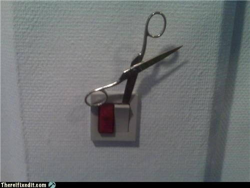 lights scissors lightswitch