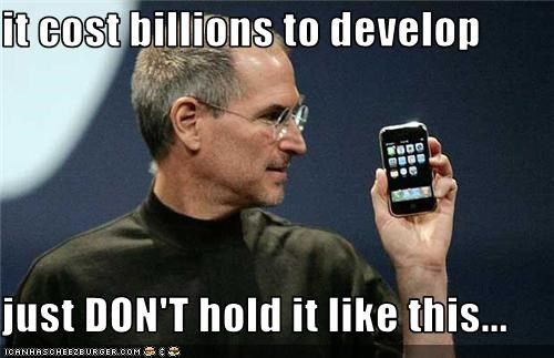 apple,death grip,iphone,iphone4,steve jobs,technology