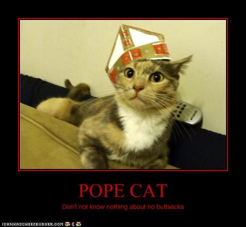 POPE CAT Don't not know nothing about no buttsecks