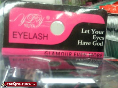 fake eye lashes god g rated product wtf - 3690214144