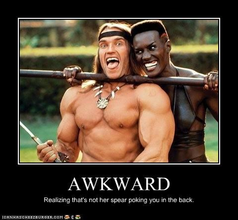 androgyny Arnold Schwarzenegger barbarians conan gender issues grace jones hilarious Mean People surprise butt sex sword play Terrifying - 3690852096