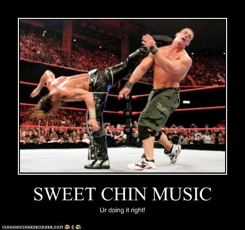 SWEET CHIN MUSIC Ur doing it right!