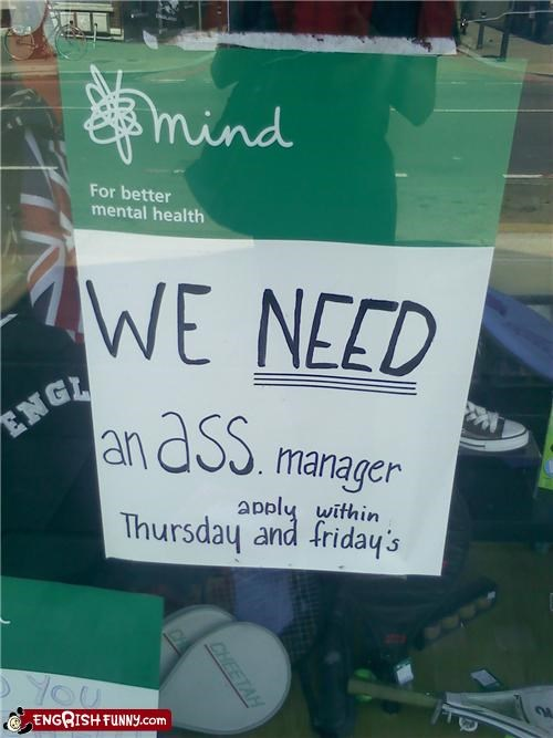 application,engrish,manager,sign
