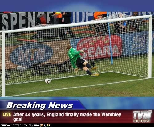 Breaking News - After 44 years, England finally made the