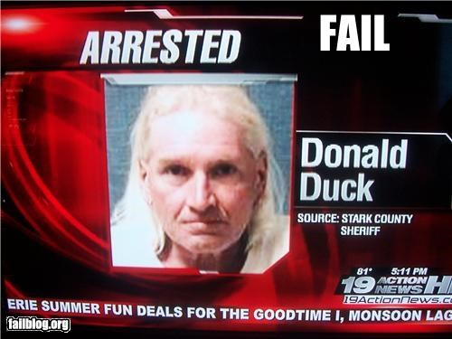 donald duck drunk failboat name Probably bad News - 3693065472
