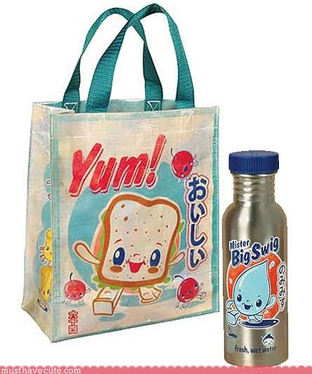 accessory bag kawaii lunch bag lunch sets water bottles