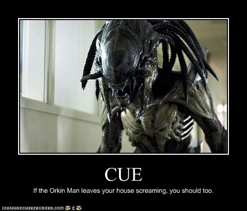 CUE If the Orkin Man leaves your house screaming, you should too.