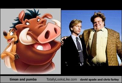 cartoons chris farley comedians david spade Hall of Fame Pumba the lion king timon