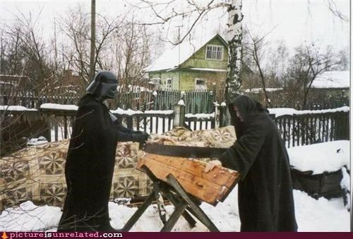back yard,building,darth vader,Emperor Palpatine,star wars,wtf